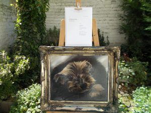 """In April 2020 the oil painting """"My Dog Bad Boy Tyler"""" by Jurita AGSA was choosed in present to Queen Elizabeth II. BADBOY LOVE COMMENDATION AWARDS FOR ANIMALS"""